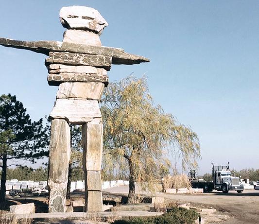Photo of worlds largest Inukshuk
