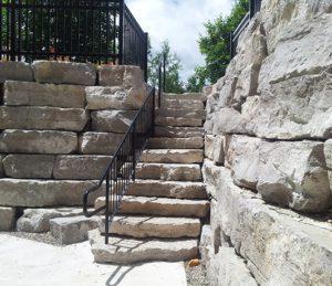 Armourstone entrance