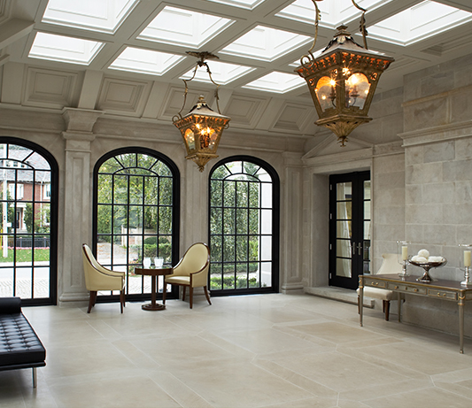 Photo of architectural cut stone project done by allstone cut shop