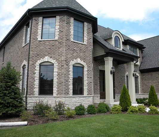 Brick Project on custom home. brown bricks
