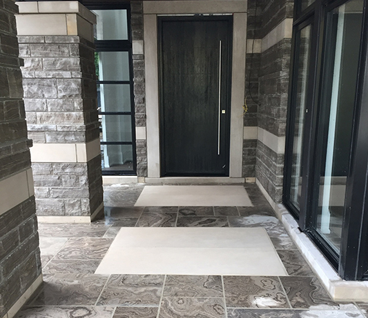 Flagsone Front Entrance supplied by Allstone