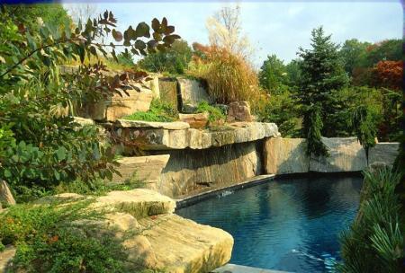 Granite Slabs and Cap Rock
