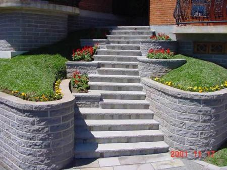 Natural Stone walkway with stone surrounds