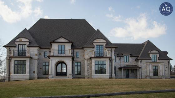 Broadshot of highend custom stone home