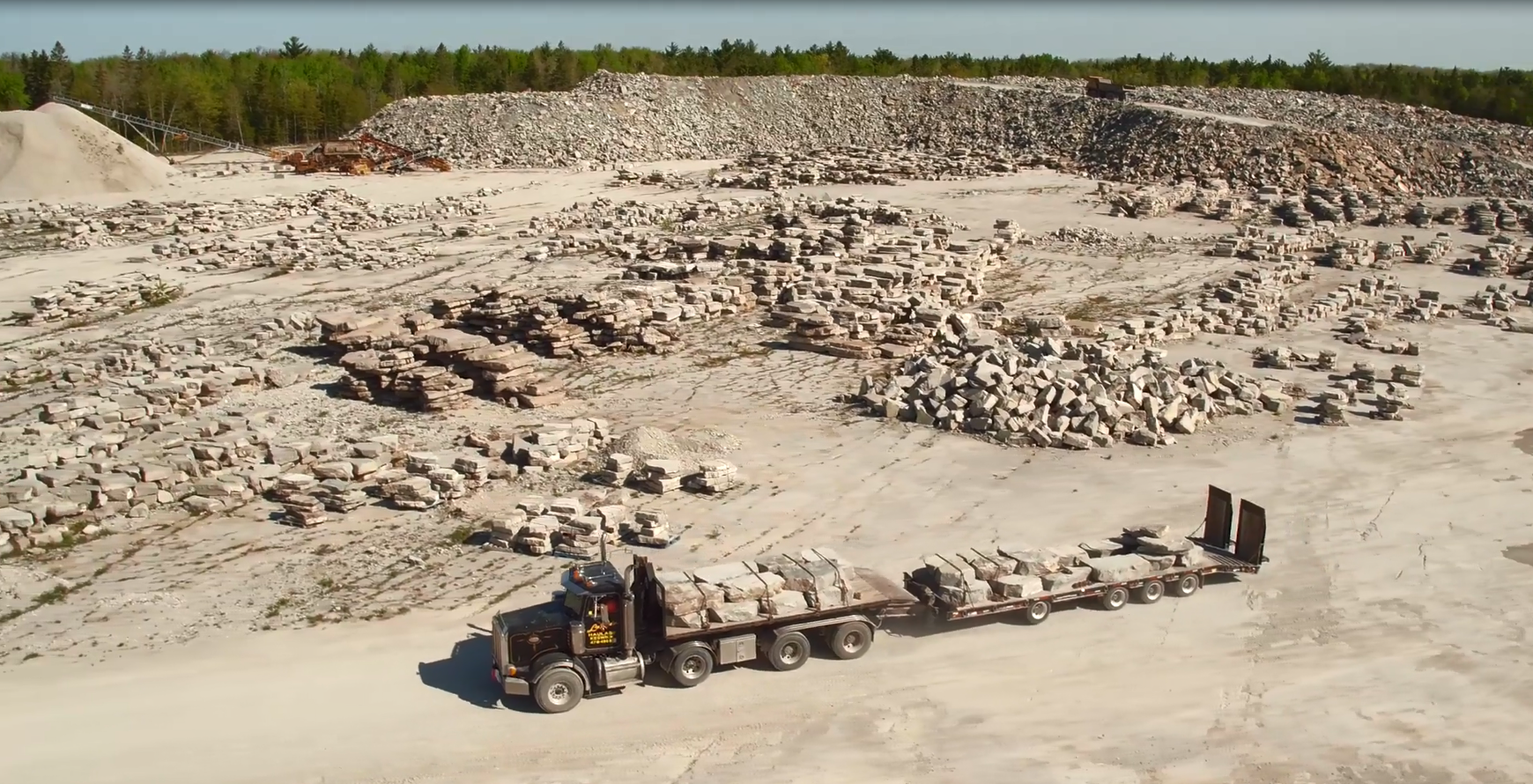 Photo of allstone quarry taken from birds eye view