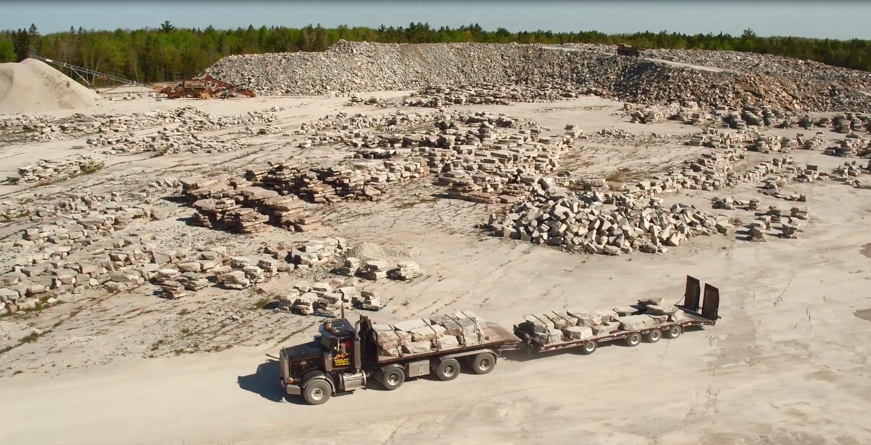 Photo of allstone quarry taken from birds eye view