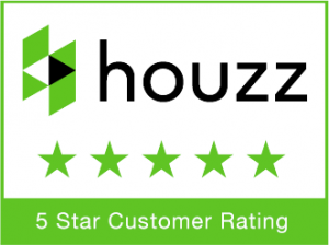 houzz logo with five star customer rating
